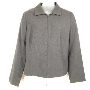 Grey gray New York & Company NWT coat jacket 10